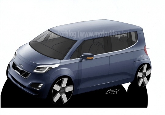 kia tam render Official: 2012 Kia Tam to debut in August (Update).