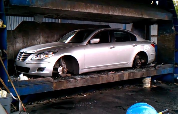 2011 New Hyundai Genesis Sedan Crushed The Korean Car Blog