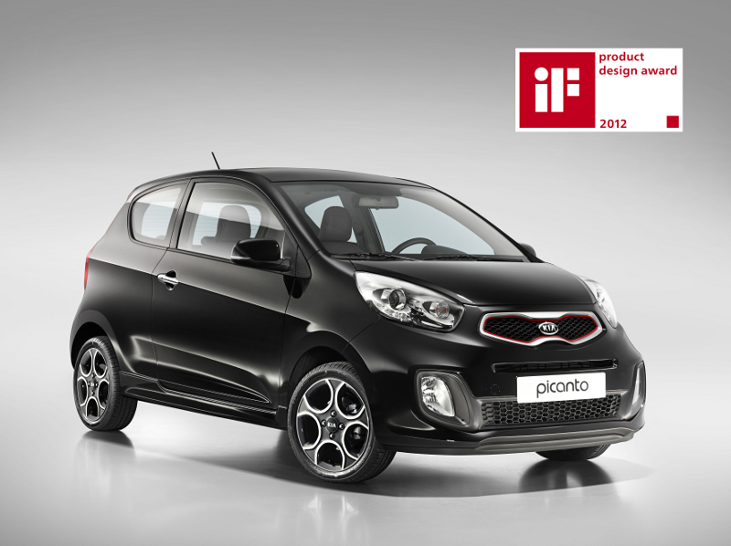 Kia Picanto three door wins prestigious design award Kia 28152 Kia Picanto three door wins prestigious iF design award.