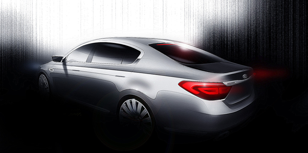 First official renders of the 2013 Kia K9 (codenamed KH ...