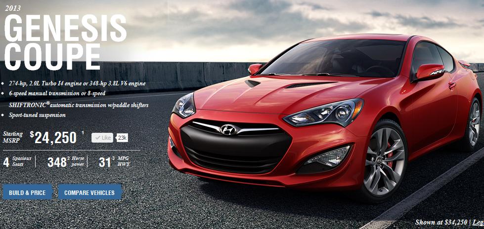 Us 2013 Genesis Coupe Car Configurator Goes Live The Korean Car Blog