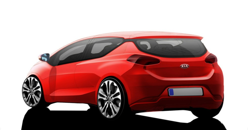 proceed Second official sketch of the 2013 Kia pro cee'd.