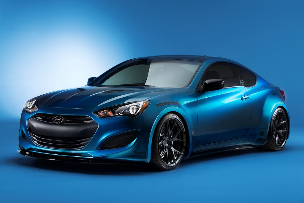 2013 Sema Show Hyundai Genesis Coupe Atlantis Blue Jp