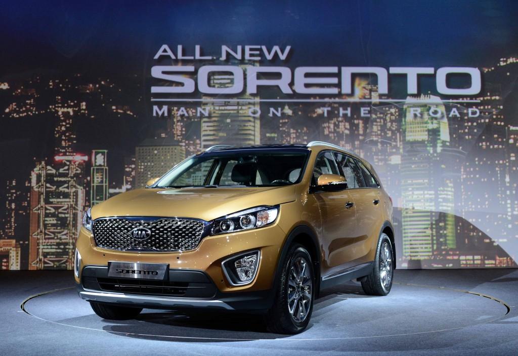 Kia officially revealed today the all new sorento in south for Kia motors south korea