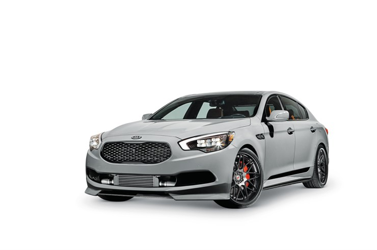 Kia motors america to debut a high performance k900 at for Kia motor company usa