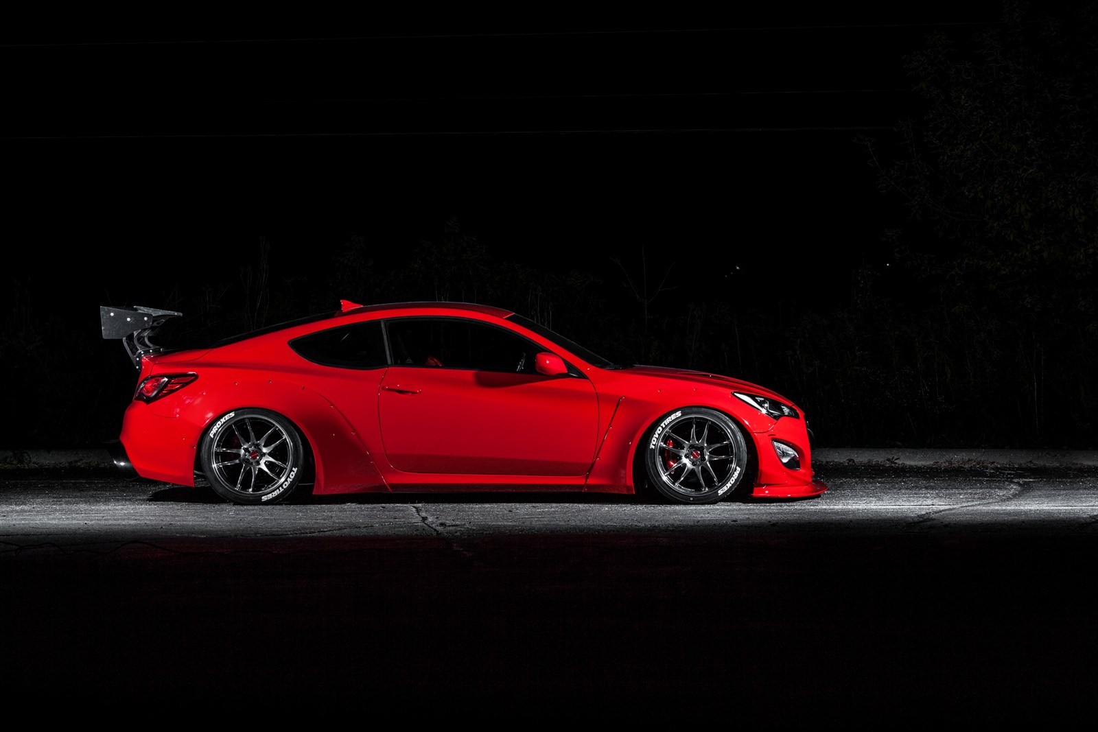 Hyundai teams up with blood type racing to debut underground racing genesis at sema show the - Hyundai genesis coupe motor ...