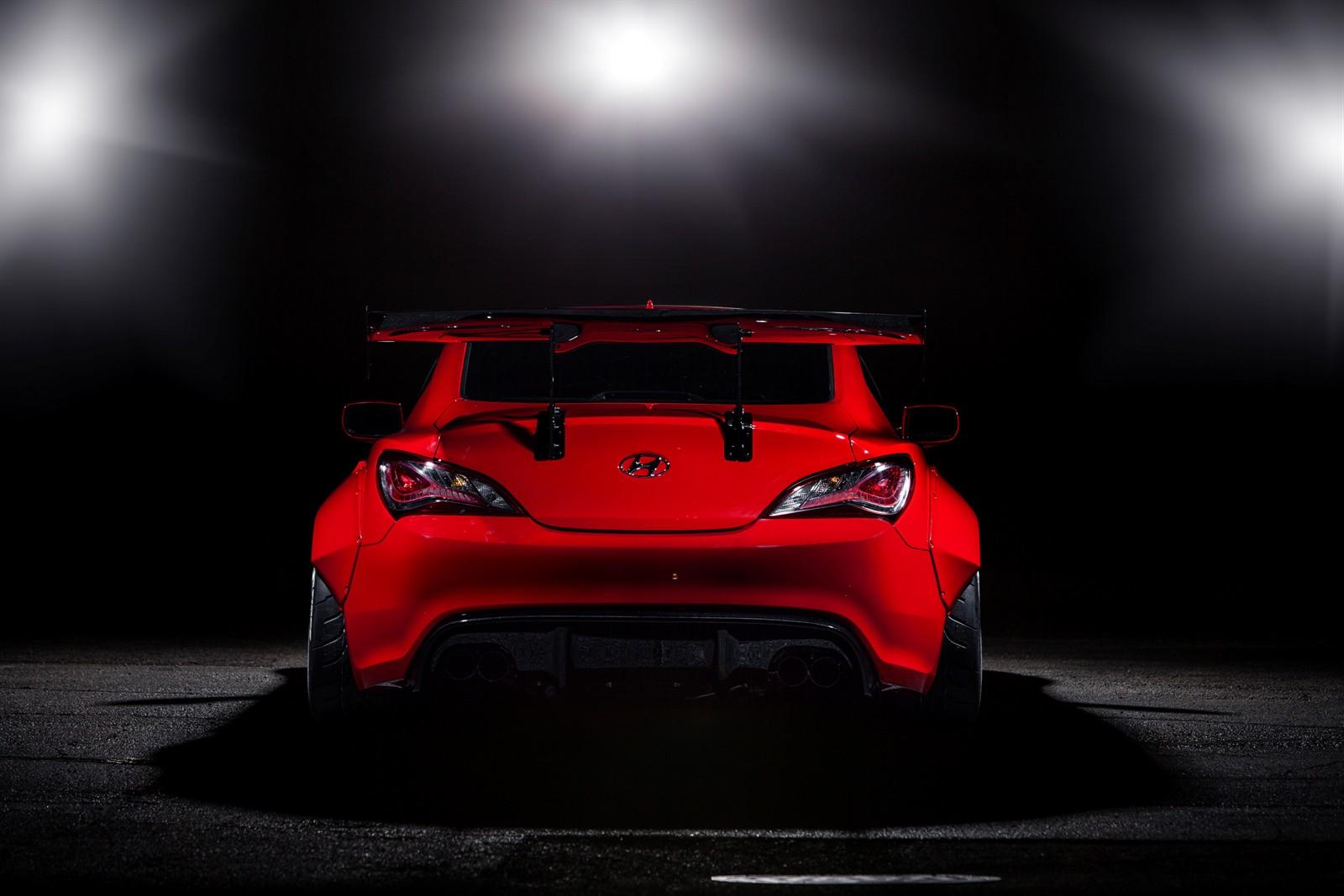 Hyundai Genesis Coupe Blood Type Racing 2014 Sema Show 3
