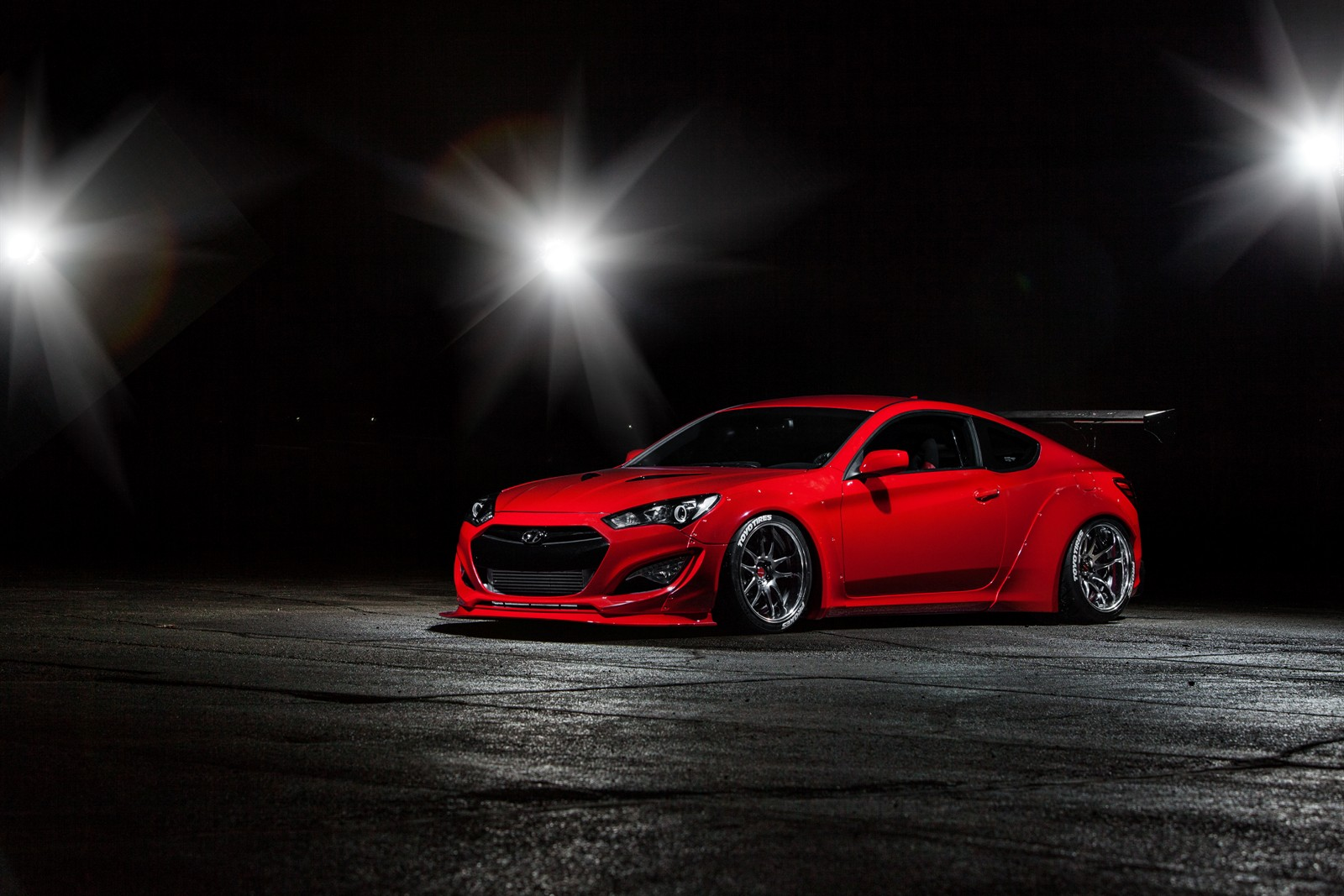 hyundai teams up with blood type racing to debut underground racing genesis at sema show the. Black Bedroom Furniture Sets. Home Design Ideas