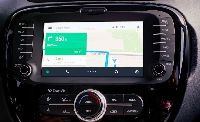 Android-Auto-Google-Maps-Kia-Soul