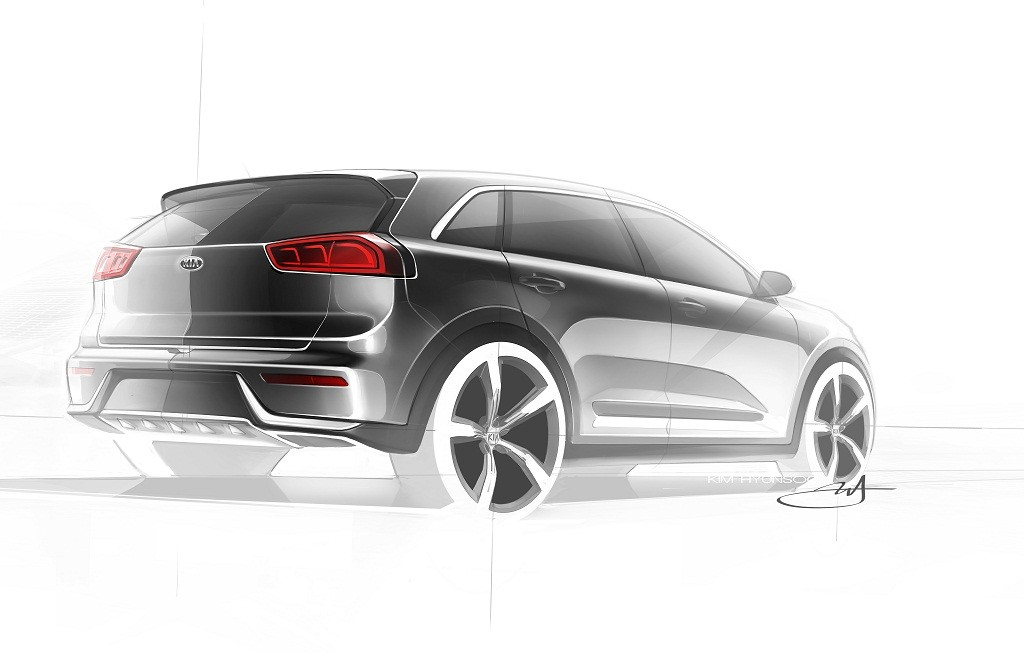 Kia Niro Production Model Rendering (rear quarter)