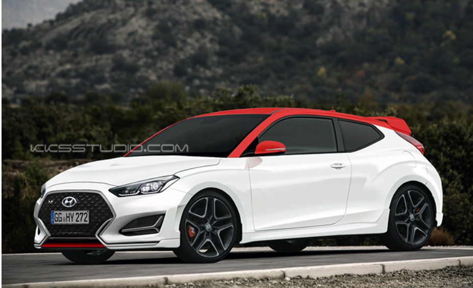 2018 hyundai veloster rendered the korean car blog. Black Bedroom Furniture Sets. Home Design Ideas