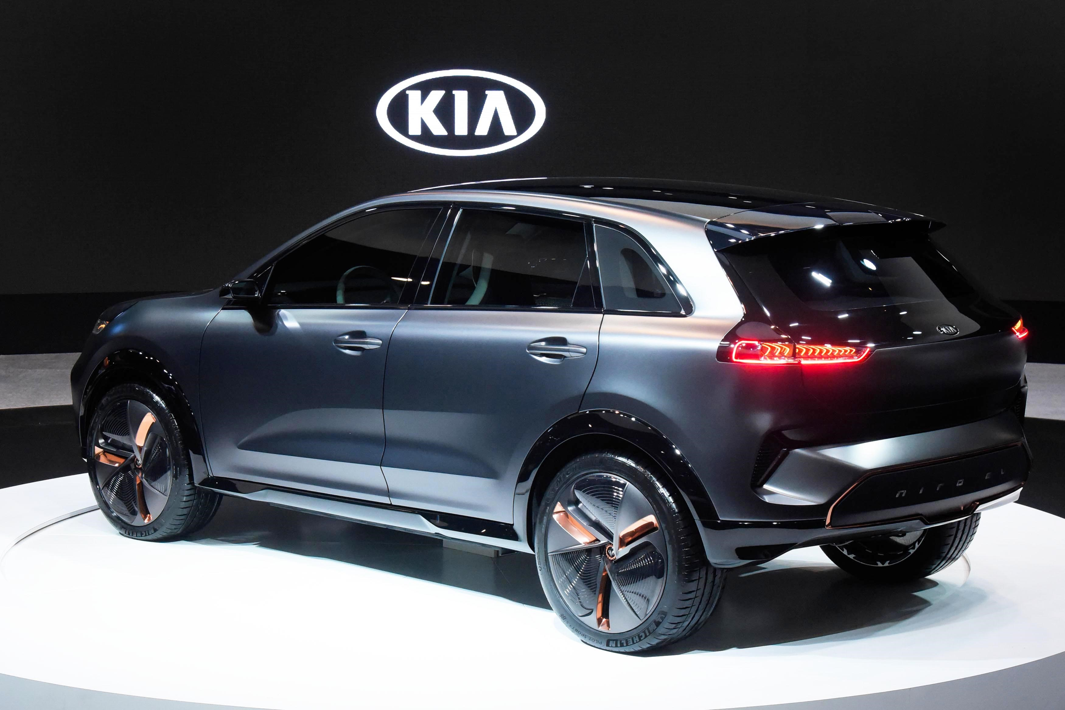 ces 2018 kia niro ev concept the korean car blog. Black Bedroom Furniture Sets. Home Design Ideas