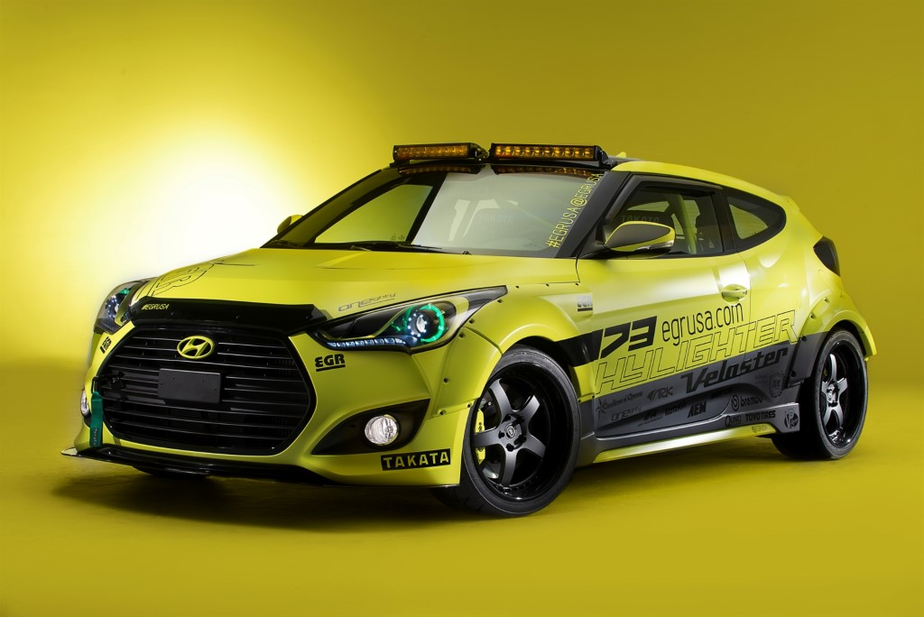 2013 Sema Show Hyundai Yellowcake Night Racer Veloster