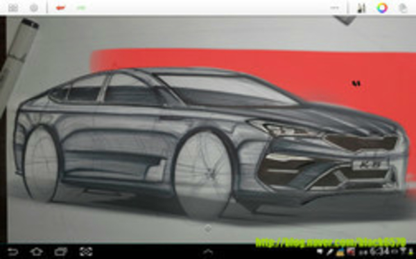 This Picture Could be the First Look into the Kia K8 SportsCoupe Saloon