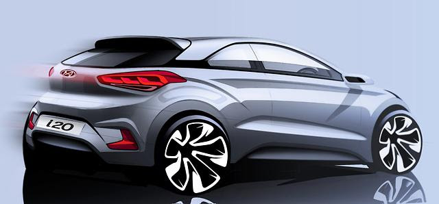 Hyundai Sketchs 3-door Coupe Variant of the New Generation i20