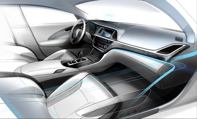 Revealed First Interior Sketch of Hyundai's Aslan Premium Sedan