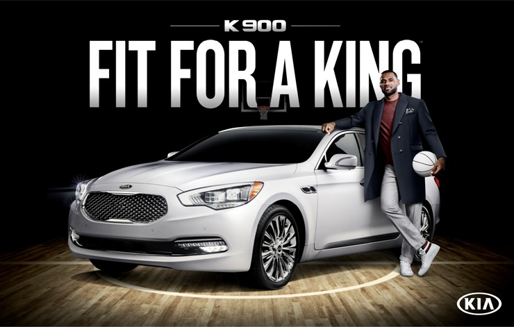 FIT FOR A KING: Kia's New Luxury Ambassador Lebron James