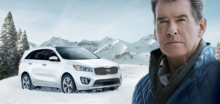 Pierce Brosnan & Kia Sorento Together in SuperBowl Commercial
