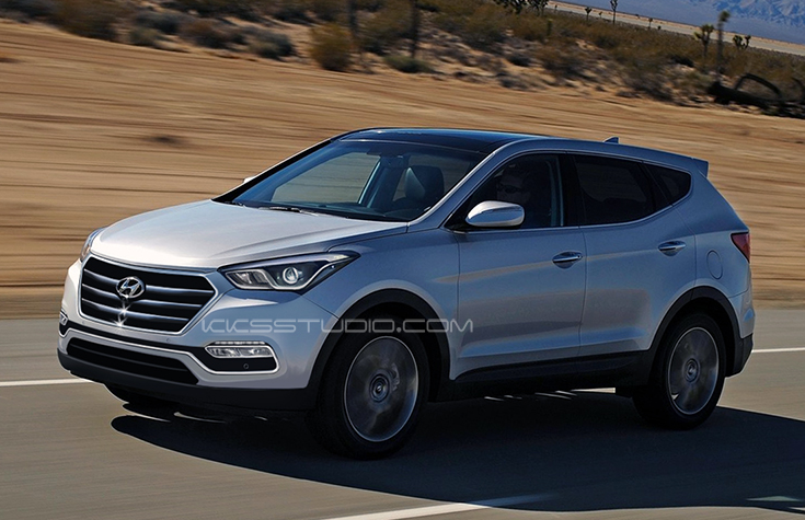 2016 Hyundai Santa Fe Rendered