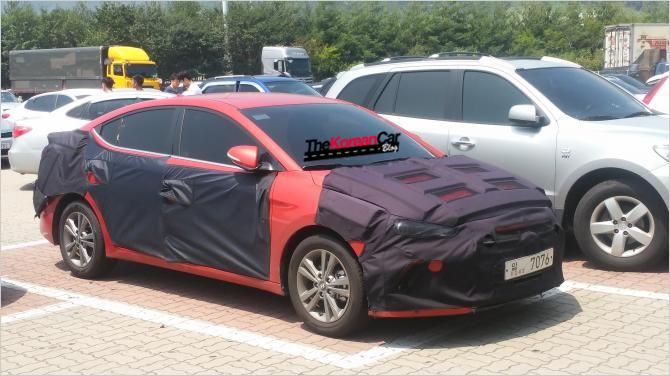 2016 Hyundai Elantra Spied Up Close