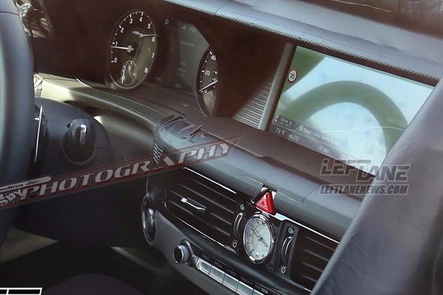 genesis g90 interior spied (4)