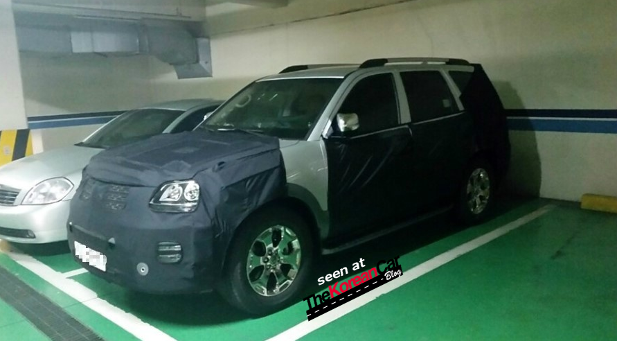 Kia Mohave Facelift Spotted for the First Time