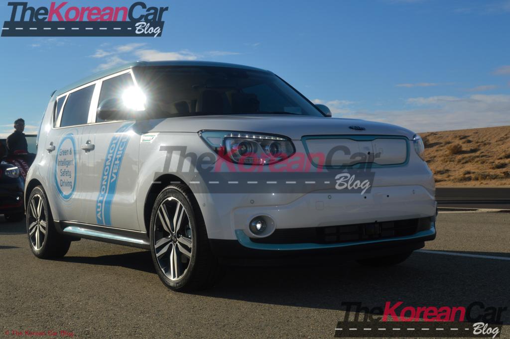 Kia Autonomous Driving Vehicle at Hyundai Proving Grounds