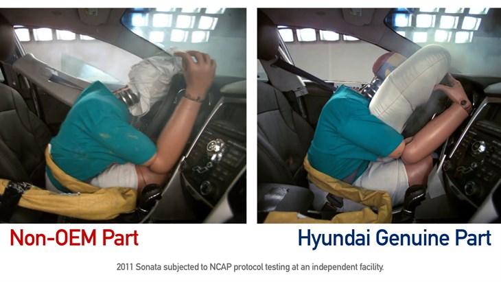 Hyundai Shows Results of Using Non OEM Parts.