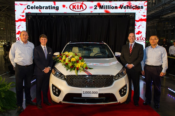 Kia Motors Manufacturing Produces 2 Millionth Vehicle In The U.S.