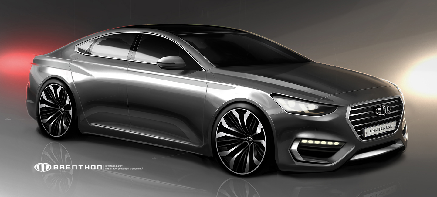 Render: The 6th generation Hyundai Grandeur