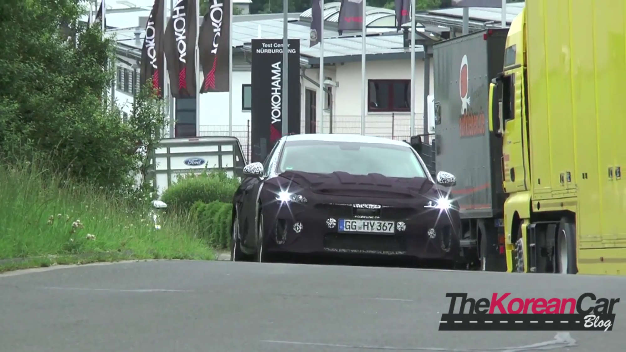Kia GT Testing Video at Nurburgring