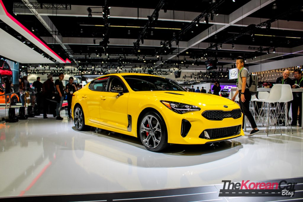 Kia Stinger Sunset Yellow