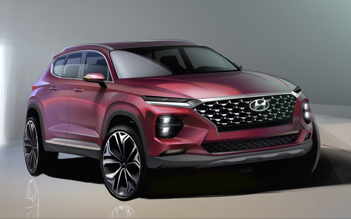 Hyundai Revealed Next-Gen Santa Fe First Official Renders