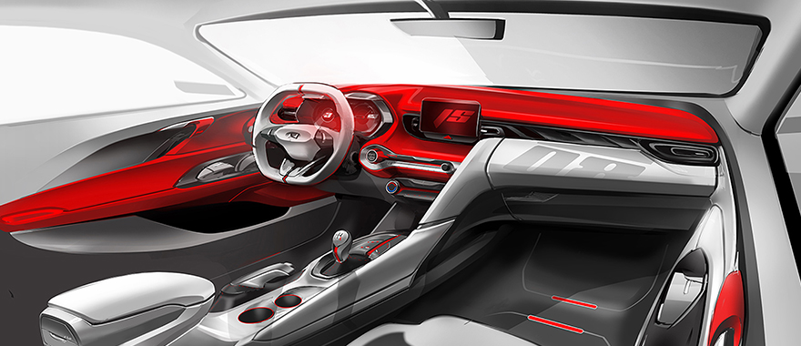 Hyundai Veloster Interior Officially Rendered