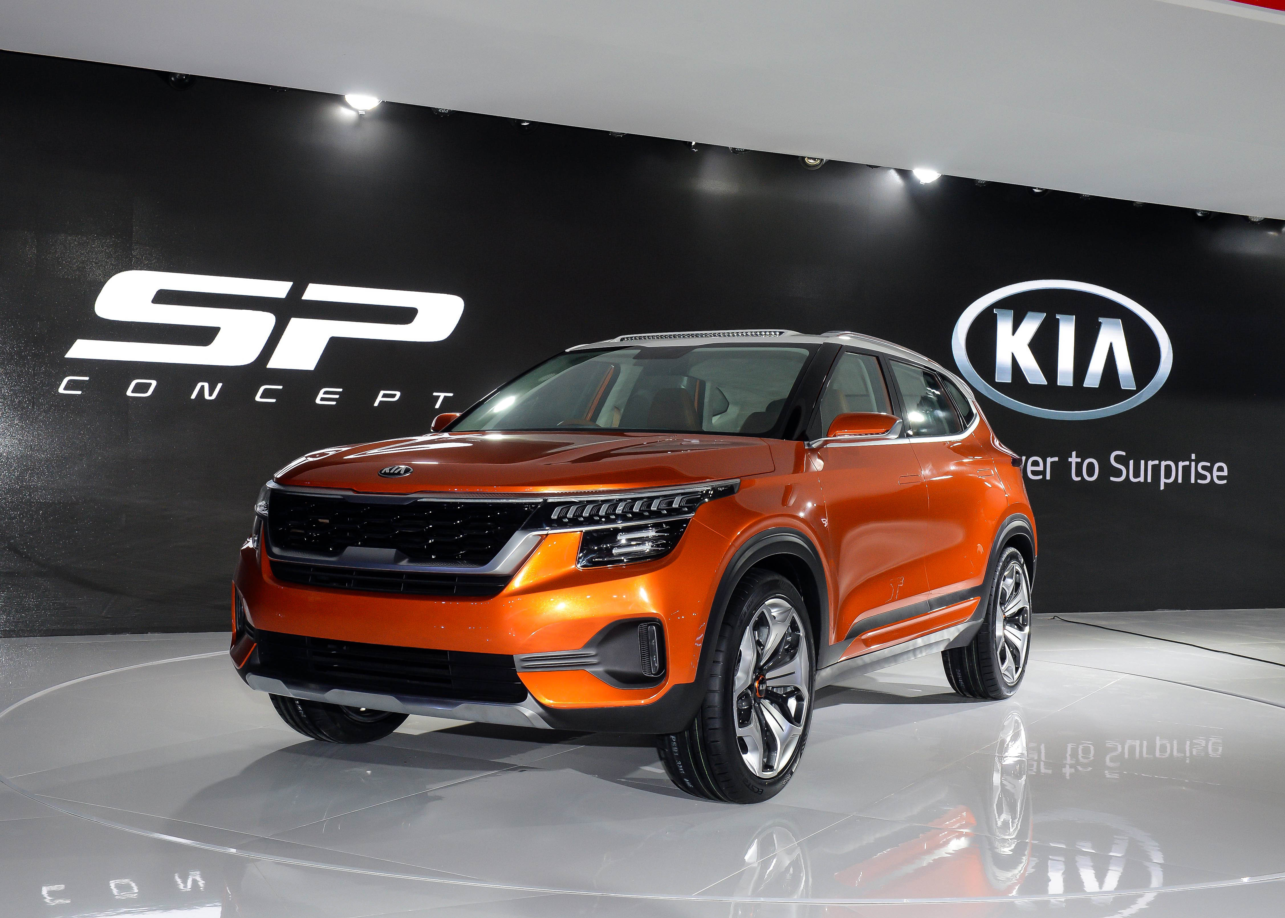 Kia SP SUV Showcased at AutoExpo 2018