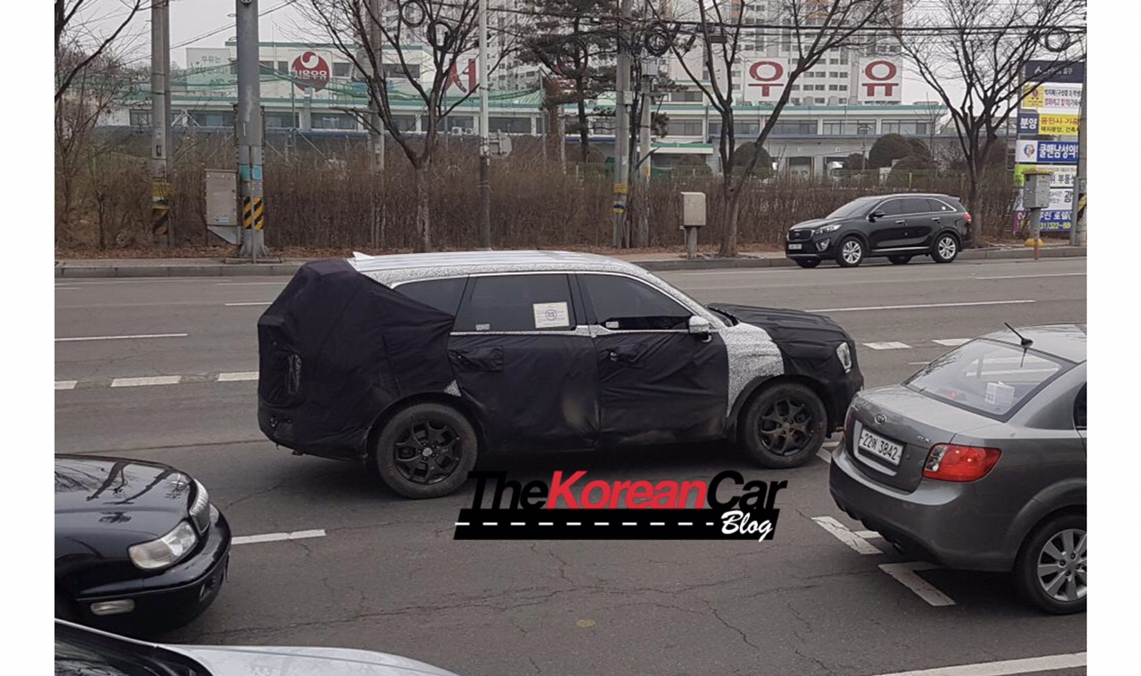 Kia Telluride Spied Again in South Korea