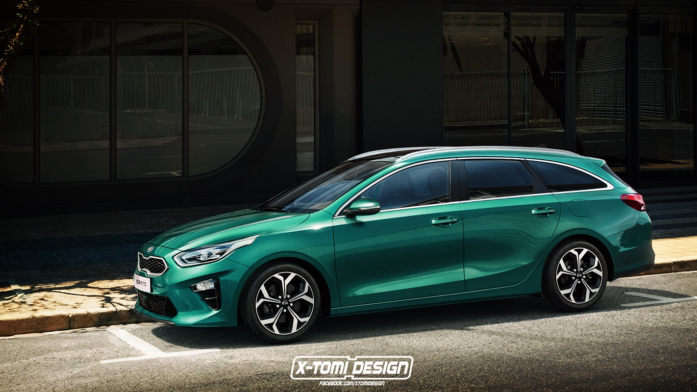 Kia Ceed Wagon Imagined Ahead Geneva