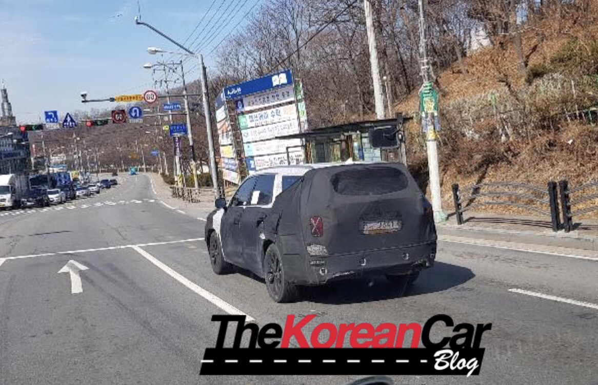 Hyundai Big-SUV Caught in South Korea