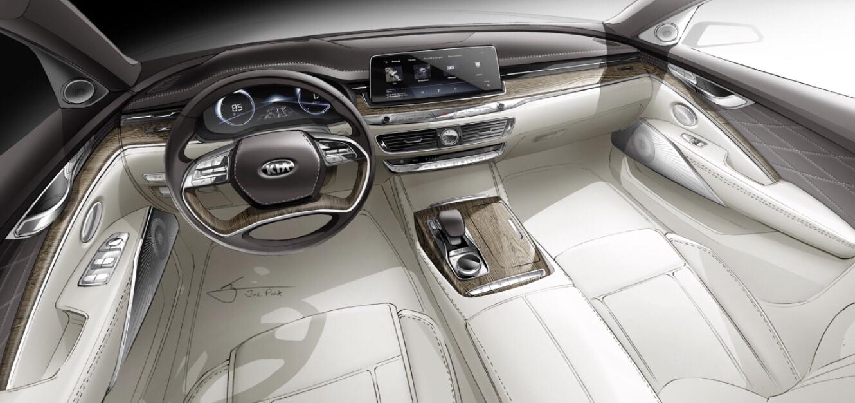 Kia Revealed Official K900 Interior Render