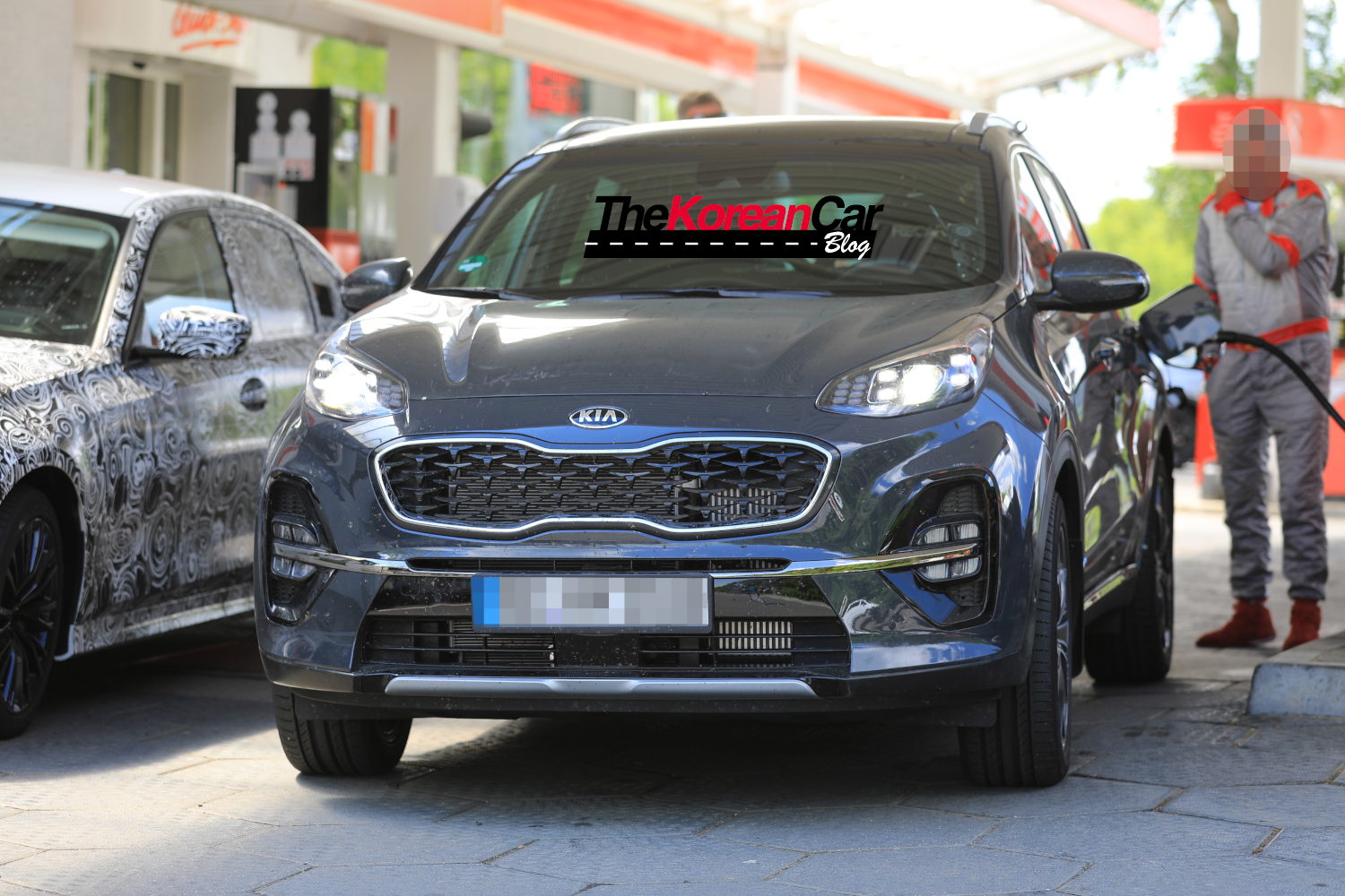 Kia Sportage Facelift Spied Undisguised