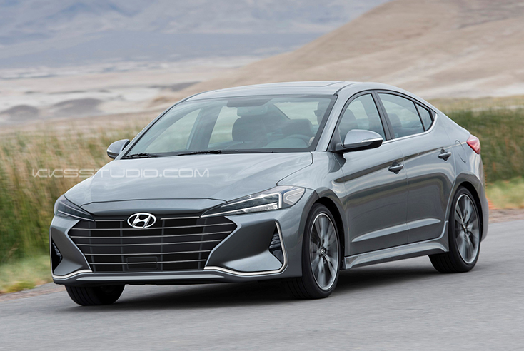 Hyundai Elantra Facelift Rendered