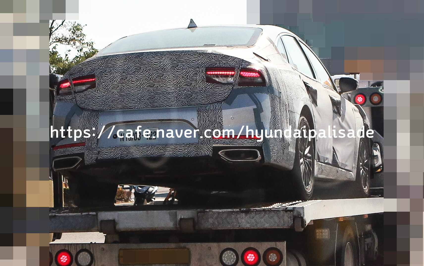 Camouflaged Hyundai Grandeur Spied in South Korea