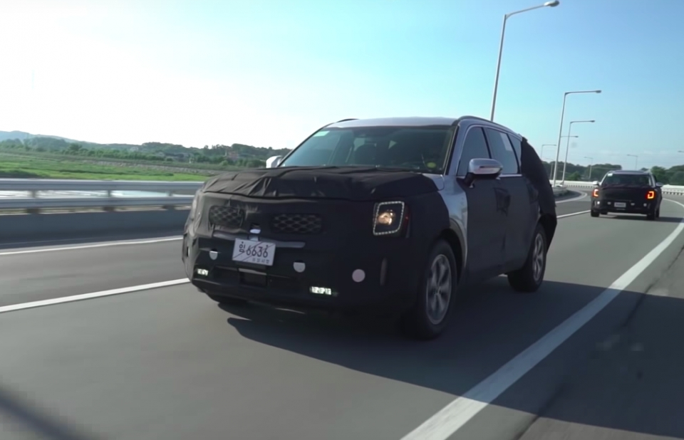 Kia Telluride Spied Testing in South Korea