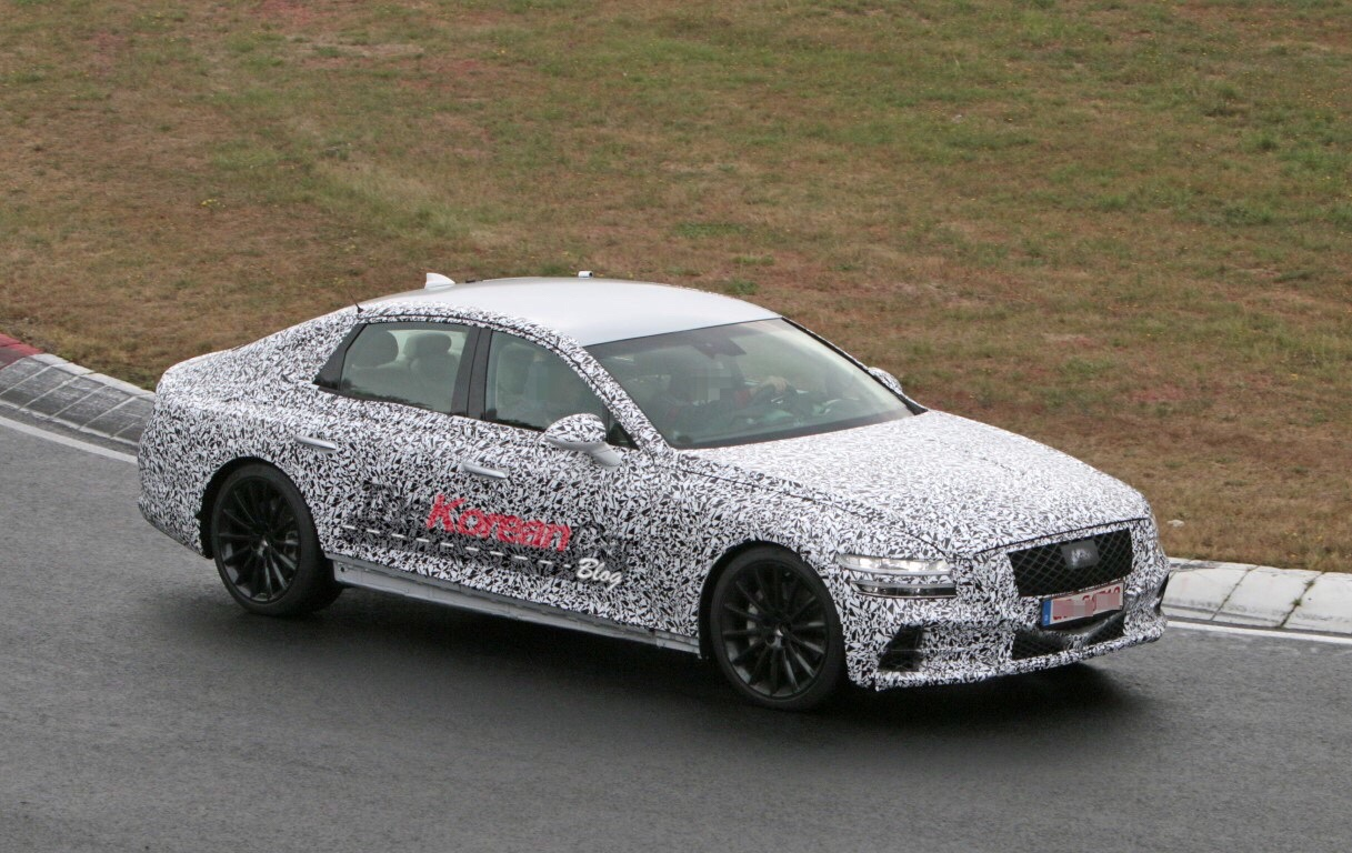 Genesis G80 Spied at Nurburgring, Show Sleeker Lines