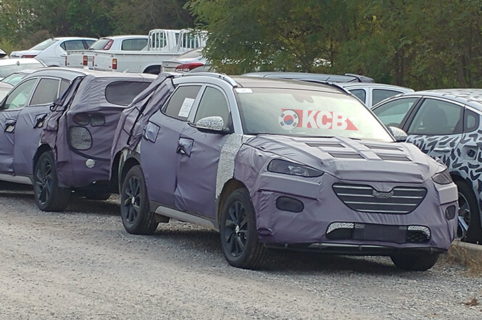 Mysterious Hyundai Tucson Caught w/ a Lot of Camouflage