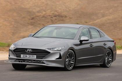 2020 Hyundai Sonata Rendered