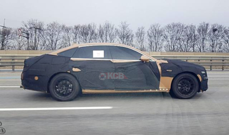 South Korea: 2020 Genesis G80 Spied in Gold