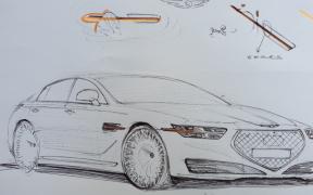 genesis g90 sketch 2