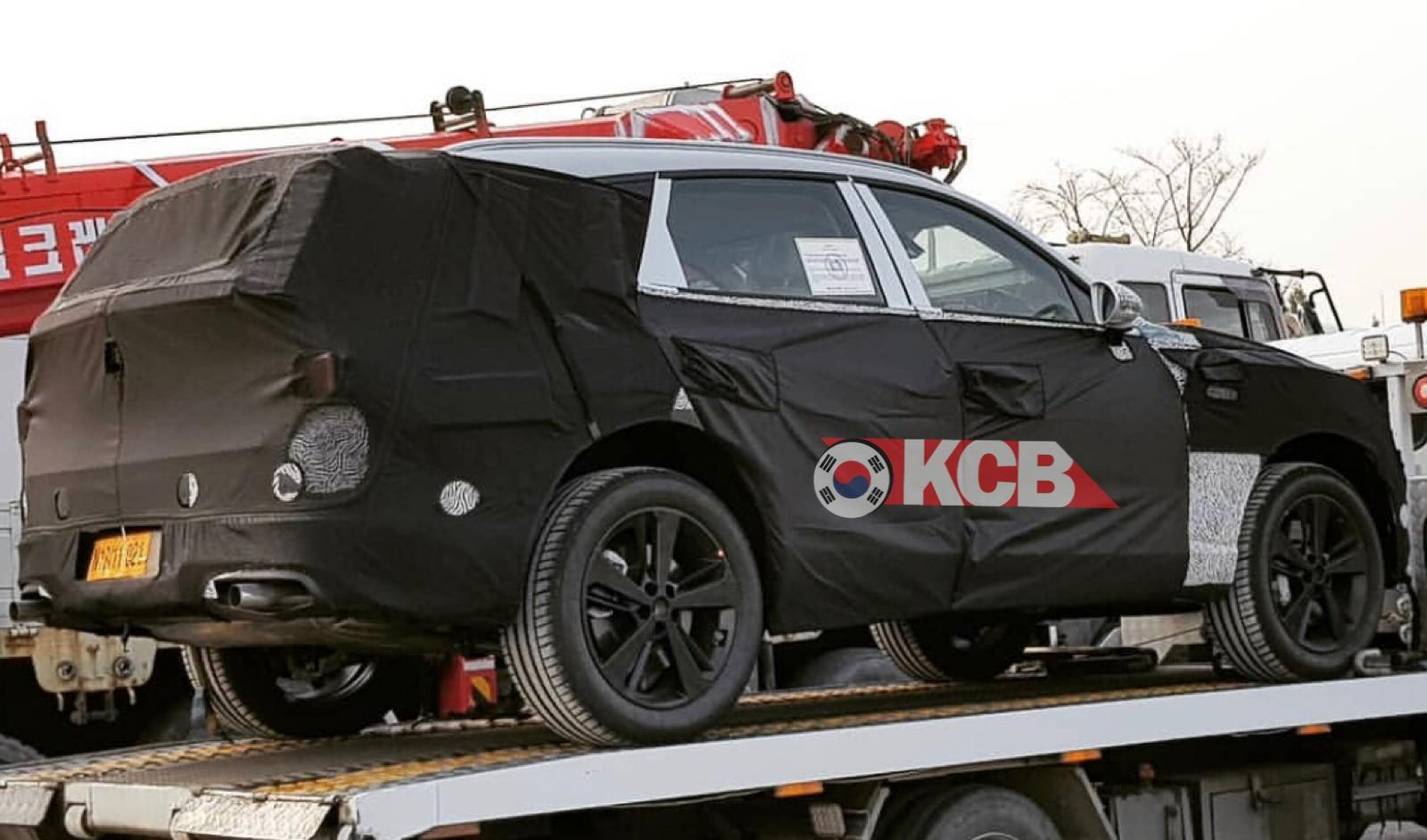 Genesis GV80 Spied Towed by a Truck
