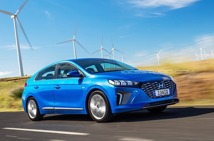 Render: Hyundai Ioniq Hybrid Facelift